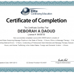 Deborah A. Daoud Certificate of Completion, License Renewal
