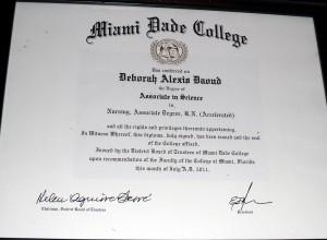 Deborah A. Daoud - Miami-Dade College Associate in Science in Nursing, Associate Degree R.N. (accelerated)