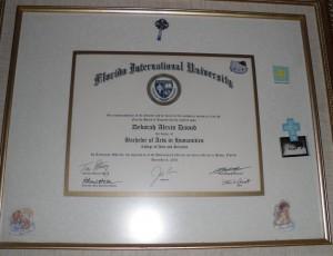 Deborah A Daoud - Florida International University Bachelor in Arts in Humanities