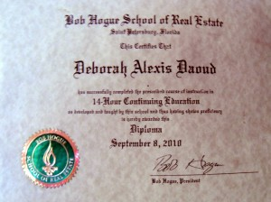 Deborah A. Daoud - Bob Hogue School of Real Estate, Real Estate Diploma