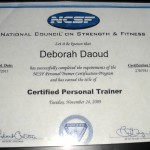 Deborah A. Daoud - National Council on Strength & Fitness, Certified Personal Trainer